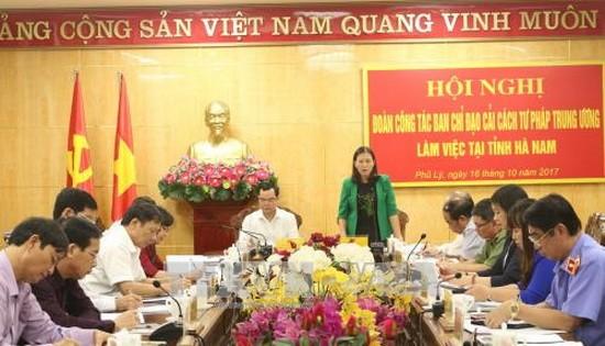 國會司法委員會主任黎氏娥在會議上發表講話。(圖源:阮征)