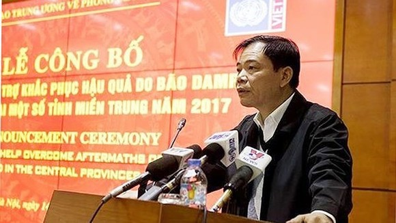 阮春強部長呼籲各國際社會、國內外組織和熱心人士繼續對受災民眾提供幫助,以讓他們儘快恢復家園。