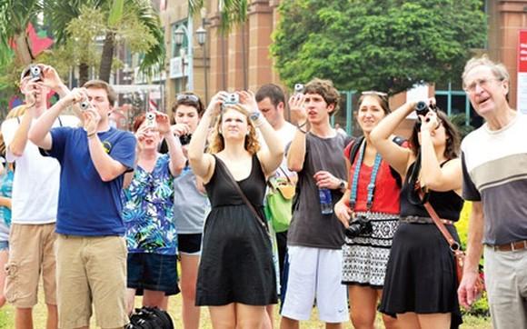 前來越南國際遊客與日俱增。