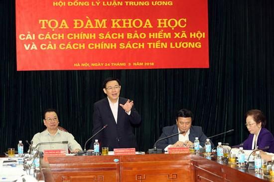 政府副總理王廷惠在座談會上發表講話。(圖源:誠鐘)