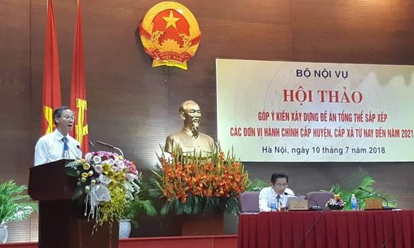 內務部地方政府司長潘文雄在研討會上發言。(圖源:秋姮)