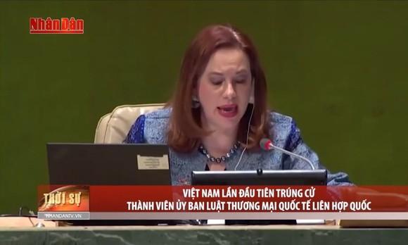越南首次當選聯合國國際貿易法委員會成員。(圖源:人民報視頻截圖)