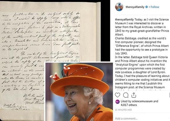 英女王首次在 instagram 上發帖。(圖源:AP)