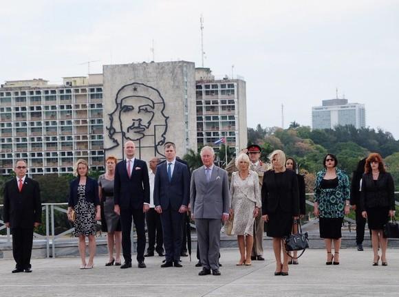 英王儲查爾斯王子及其夫人卡米拉訪問古巴。(圖源:推特)