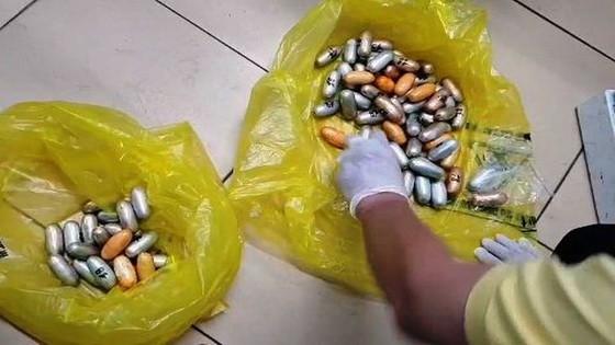 被查獲的1.6公斤毒品。(圖源:ĐD)