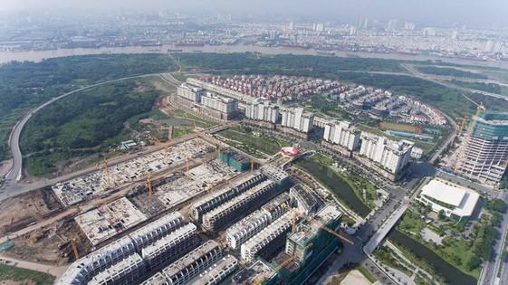 從高處俯瞰的守添新都市區一瞥。(圖源:TTO)