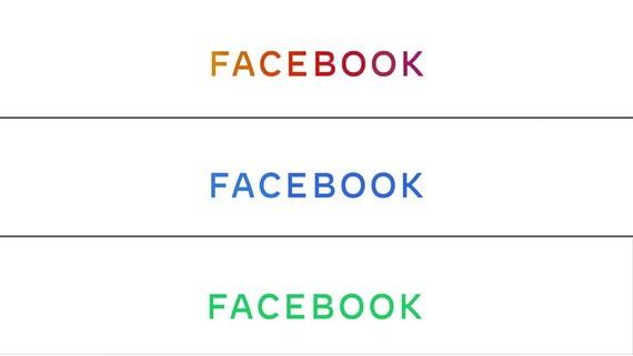 臉書公司公佈新標誌,藍色代表facebook、綠色代表WhatsApp、紅色代表Instagram。(圖源:AFP)