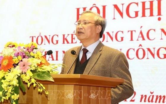 黨中央書記處常務書記陳國旺在會議上發表講話。(圖源:越通社)