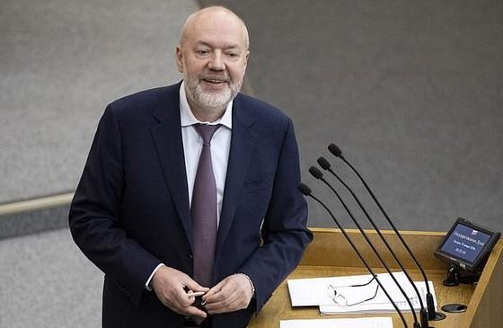 俄羅斯修憲工作組聯席主席帕威爾‧克拉申寧尼科夫。(圖源:AP)