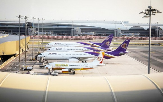 泰國暫時禁止所有客機入境。(示意圖源:互聯網)