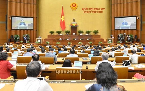 國會第九次會議現場。(圖源:Quochoi.vn)