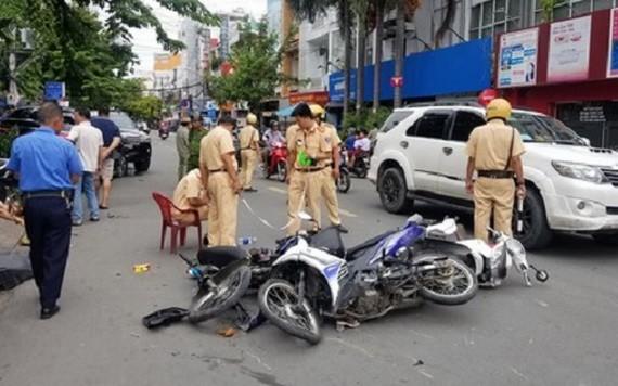 圖為一起交通事故現場。(示意圖源:阮鳳)