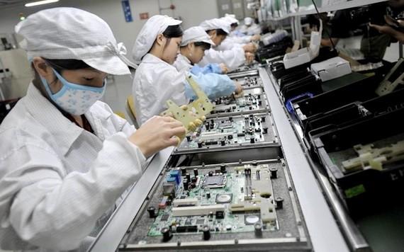 我國電子零件出口東盟市場。