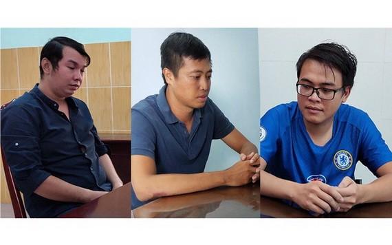 圖為被起訴的3名嫌犯。左圖起依次為陳志皓、阮成忠和阮光勝。(圖源:警方提供)