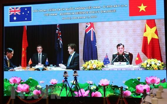 第四次越南-澳大利亞國防政策對話視像會議。(圖源:越通社)