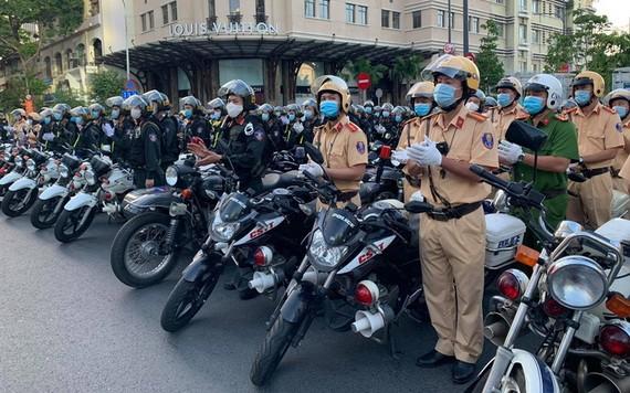 市公安廳展開打擊罪犯高峰期行動。(圖源:PV)