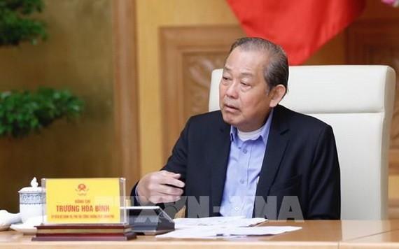 政府常務副總理張和平主持會議。(圖源:越通社)