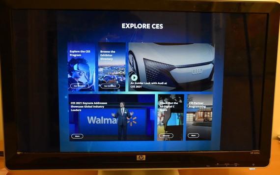 這是1月11日在美國洛杉磯拍攝的顯示美國拉斯維加斯消費電子展官網內容的電腦屏幕。(圖源:新華社)