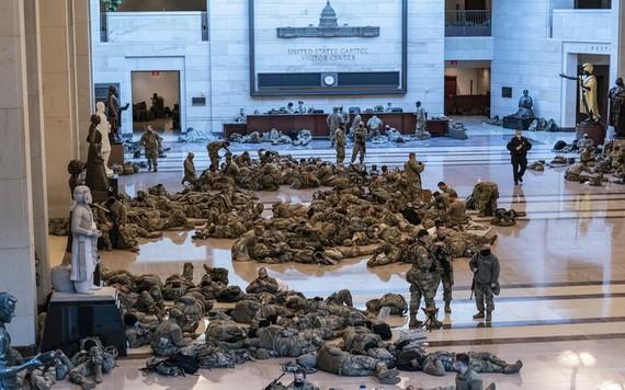 安全威脅升高,美國特勤局接管拜登就職典禮安保工作。(圖源:AP)