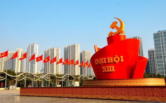 """今(25)日上午,黨""""十三大""""代表將在美亭國家會議中心大會場舉行籌備會議。(圖源:VTV)"""