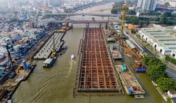 """本市會及早投入使用""""涉及氣候變暖因素的本市因潮汛受淹處理項目一期工程""""。"""