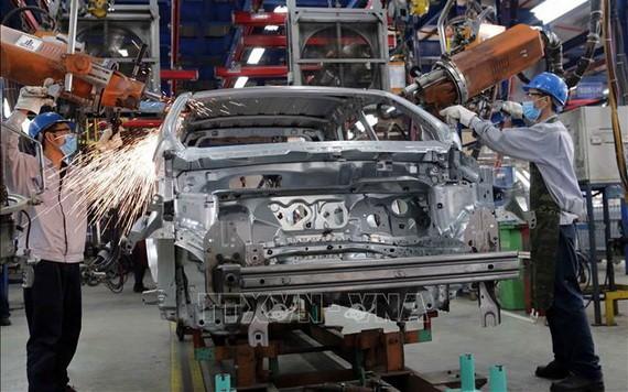海陽福特公司安裝汽車一隅。(圖源:越通社)