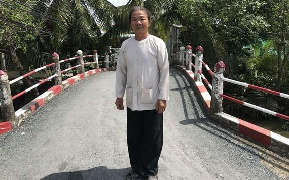 阮文碑在由他募捐經費和出力興建的一座橋。