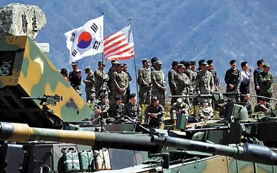 圖為2017年美韓軍演。(圖源:Getty Images)