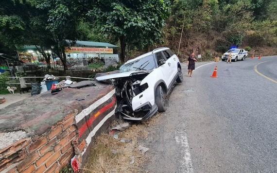 圖為2月24日在保祿嶺上發生的一起交通事故,導致一名7歲男童死亡。(圖源:嘉平)