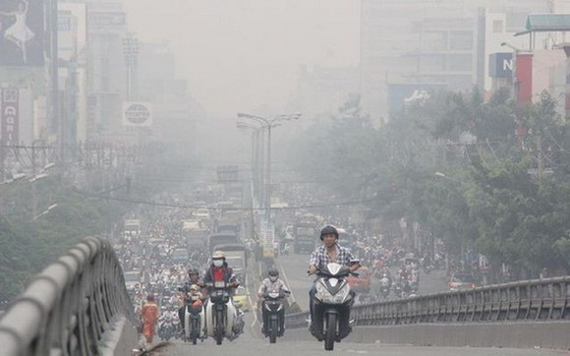 """河內市空氣污染指數居全國""""黑榜""""首位。(圖源:VTV)"""
