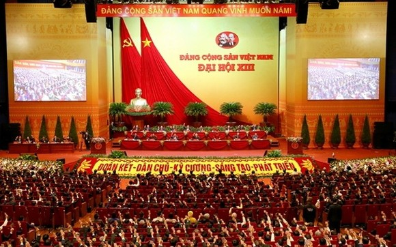 圖為第十三屆黨全國代表大會現場。(圖源:T. Huyền)