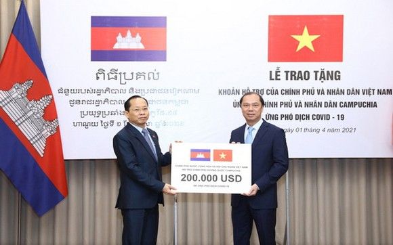 越南援助柬埔寨 20 萬美元防控疫情