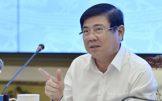 市人委會主席阮成鋒在會議上發表指導意見。(圖源:自忠)