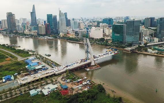 施工中的守添2橋。(圖源:瓊陳)