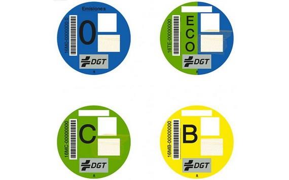 四種車輛環保標籤。(圖源:Getty Images)