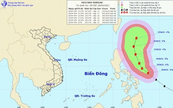 舒力基超強颱風的移動方向。(圖源:國家水文氣象預報中心)()