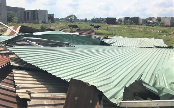 平政縣的某違建區域被拆卸。