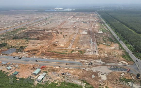 圖為同奈省隆城縣祿安-平山安置房工程項目。(圖源:越通社)