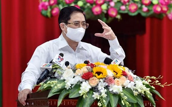 政府總理范明政在會上發表講話。(圖源:日北)