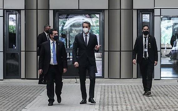 希臘總理米佐塔基斯到訪移民和庇護部。(圖源:Eurokinissi)