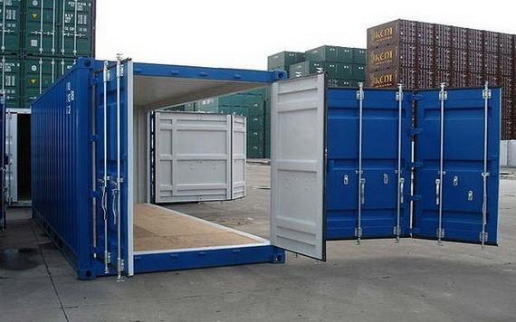 改造的集裝箱倉庫。(圖源:互聯網)