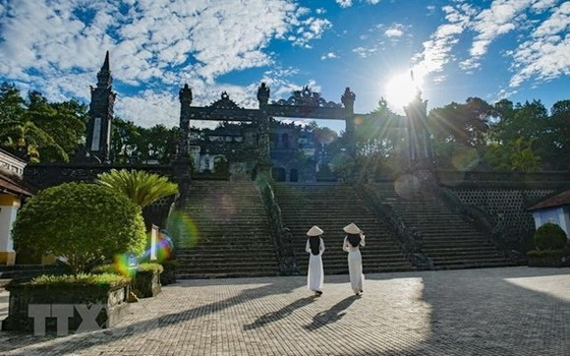 1993年12月11日,順化古都遺跡建築群體獲聯合國教科文組織列入世界遺產名錄。(圖源:越通社)