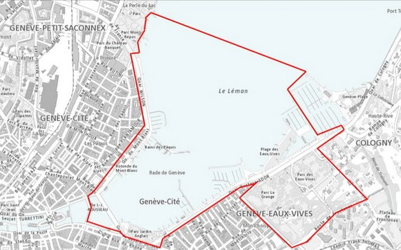 美俄峰會在日內瓦市中心劃出的安全區(圖源:日內瓦州政府)