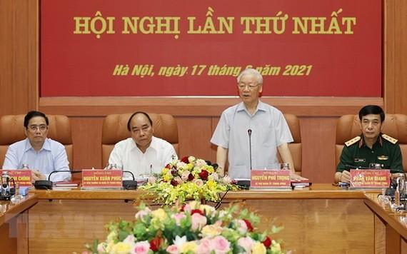 阮富仲總書記主持新任期中央軍委首次會議