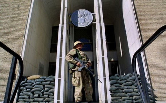 美國駐阿富汗大使館。(圖源:Getty Images)