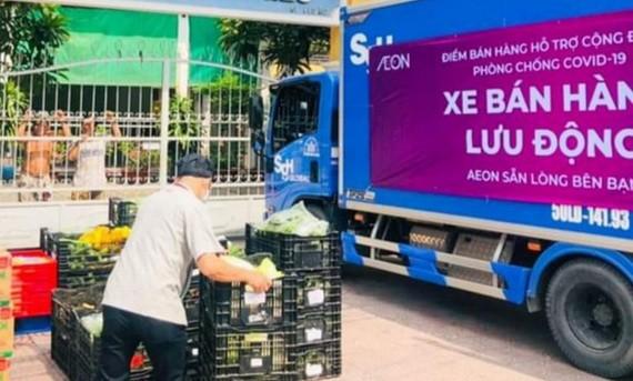 流動售貨車為民眾服務