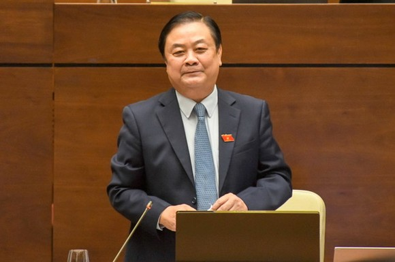 農業與農村發展部部長黎明歡在會上發言。(圖源:元平)