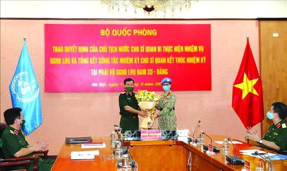 越南女中校履行聯合國維和任務