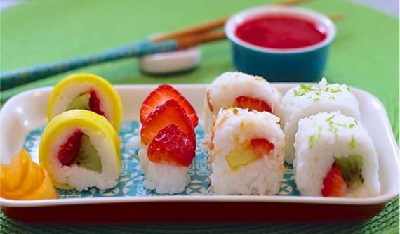 綠茶水果壽司做法
