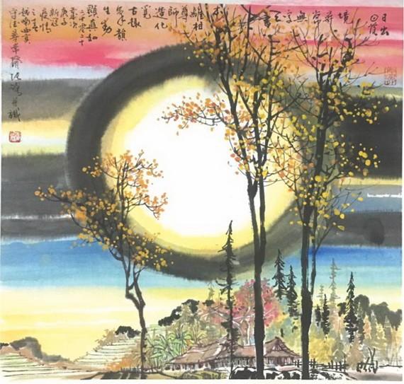 人民藝人張路以詩為題的畫作。